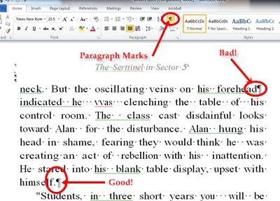 Single hard-returns to separate paragraphs